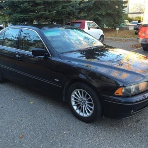 2002 BMW 5 Series 540iA V8 4.4 l BLACK ON BLACK